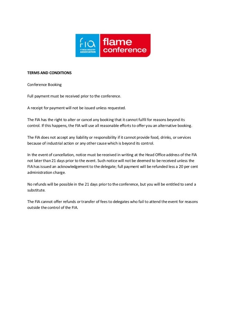 TERMS AND CONDITIONSConference BookingFull payment must be received prior to the conference.A receipt for payment will not...