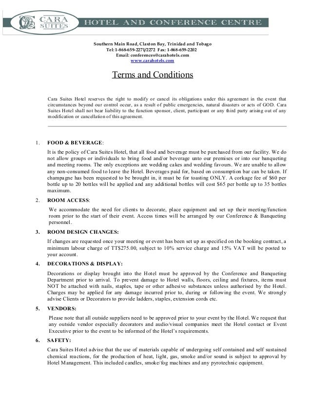Terms and conditions template usa for Wedding planner terms and conditions template
