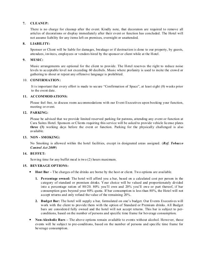 event terms and conditions template - terms and conditions template
