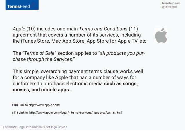 Payment Terms as Legal Clauses in Terms & Conditions
