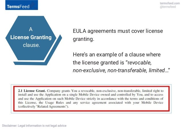 What To Include In EULA ? 11.