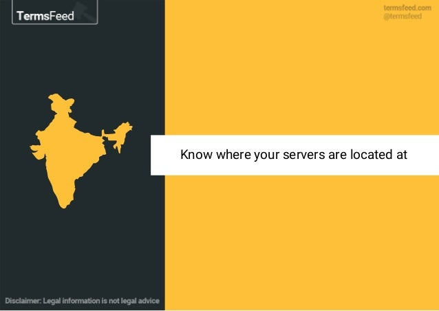 Know where your servers are located at