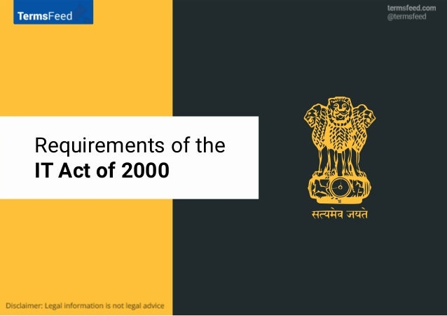 Requirements of the IT Act of 2000