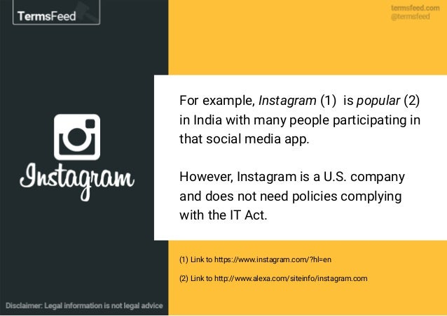For example, Instagram (1) is popular (2) in India with many people participating in that social media app. However, Insta...