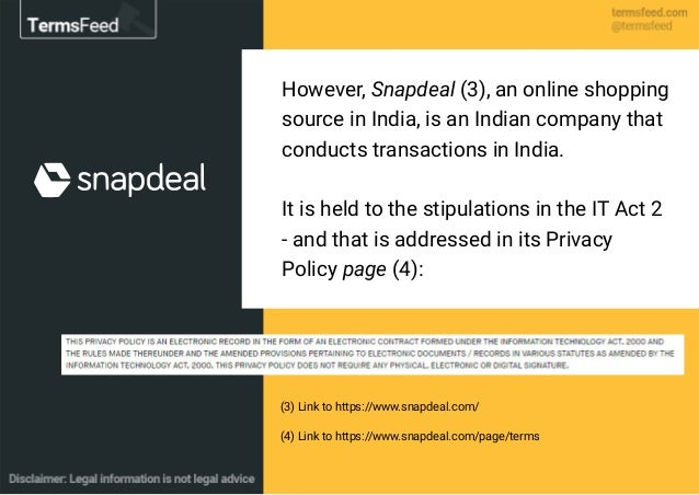 (3) Link to https://www.snapdeal.com/ (4) Link to https://www.snapdeal.com/page/terms However, Snapdeal (3), an online sho...