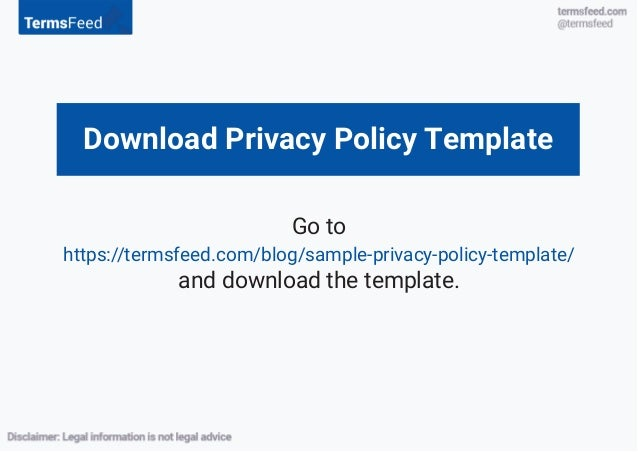 The Privacy Policy Agreement - Blog privacy policy template