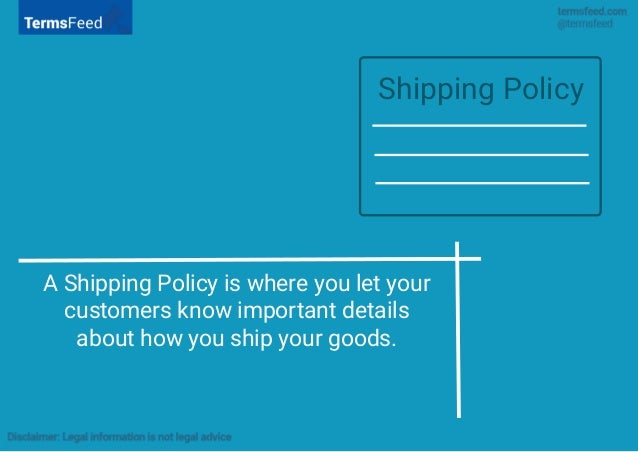 3 a shipping policy