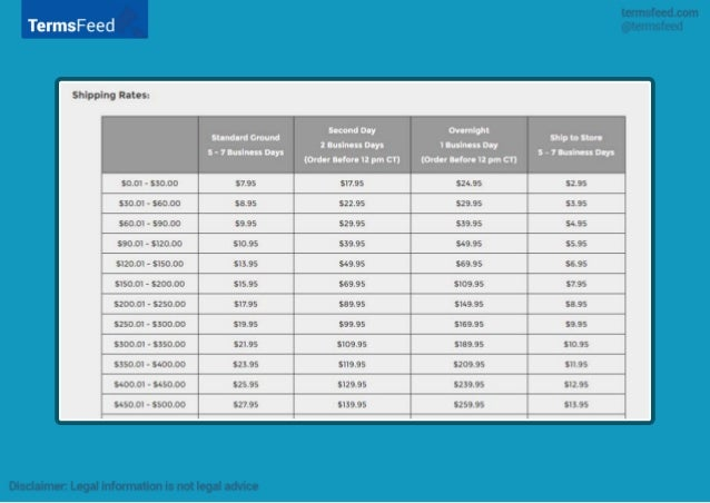 international shipping information