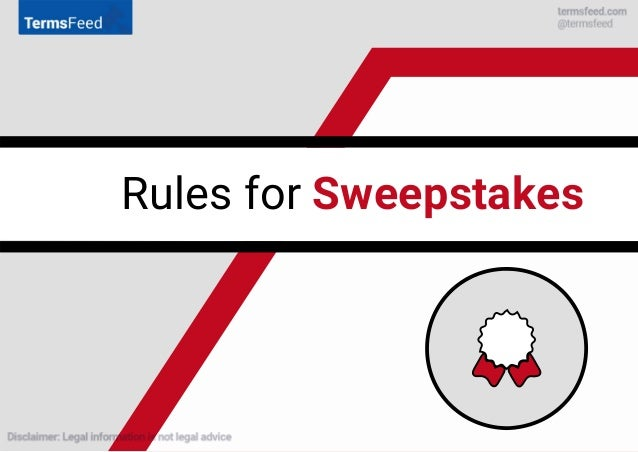Rules for Sweepstakes