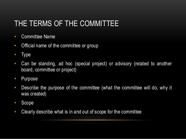 Programme board terms of reference template
