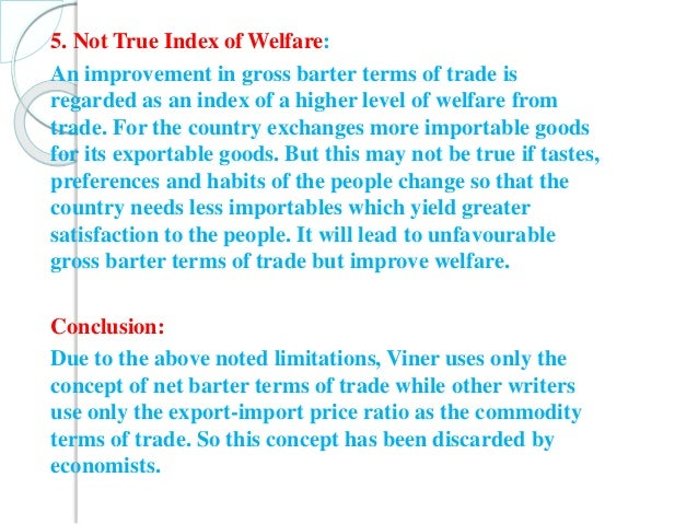 limitations of terms of trade