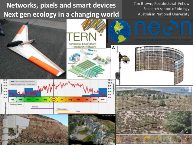 Networks, pixels and smart devices Next gen ecology in a changing world Tim Brown, Postdoctoral Fellow Research school of ...