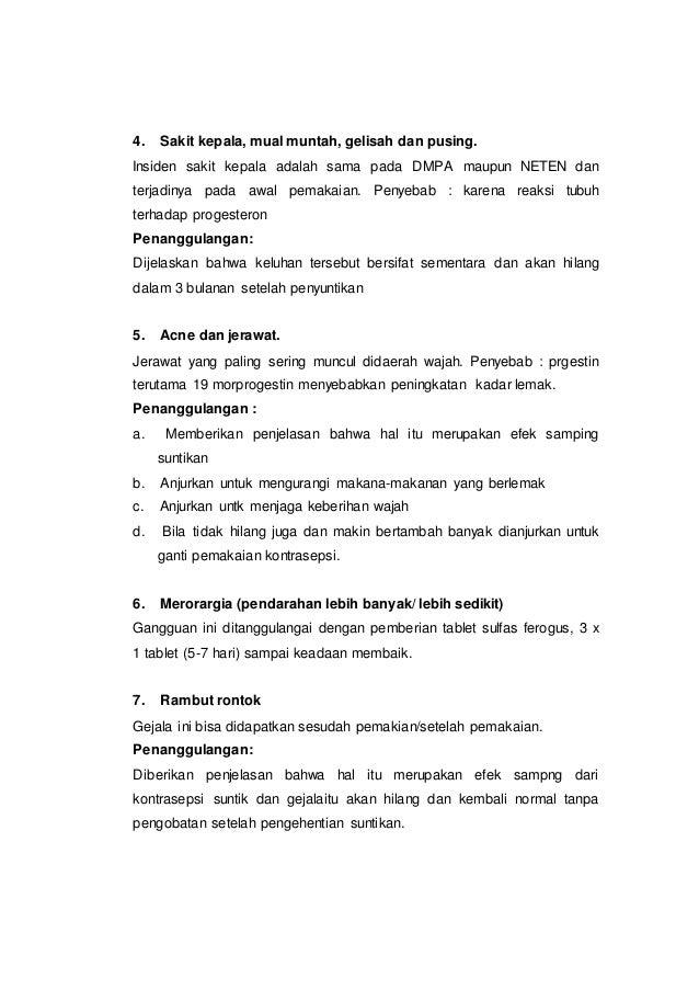 KB SUNTIK 3 (TIGA) BULAN DENGAN EFEK SAMPING