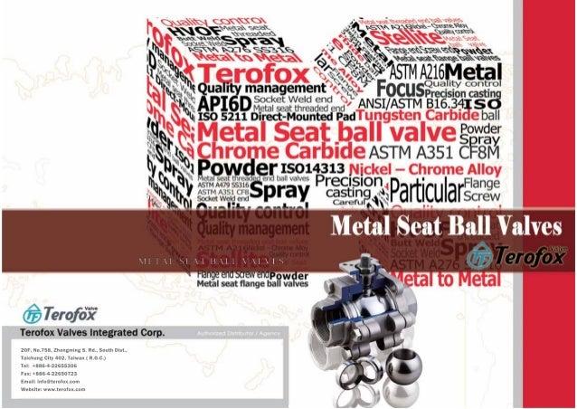 Terofox metal seat ball valves catalogue (rev.02)