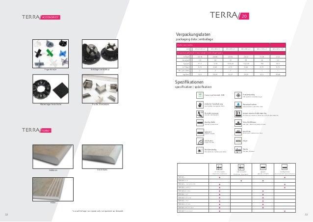 58 59 Fugenkreuze Stelzlager verstellbar Plattenlager feste Höhe Profile/Kiesleisten accessories*TERRA/ FORM*TERRA/ Halbkr...