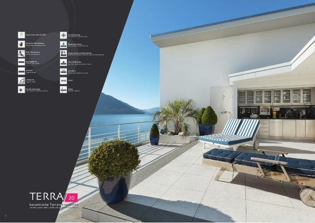 TERRA/ 20 keramische Terrassenplatten ceramic patio slabs | dalles de patio en céramique 6 7 durchgefärbt full body | plei...