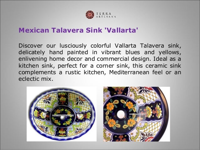 5  Mexican Talavera Sink   39. TerraArtesana   Talavera Bathroom Sinks