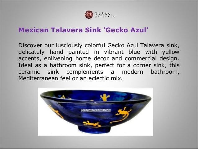 6  Mexican Talavera Sink   39. TerraArtesana   Talavera Bathroom Sinks
