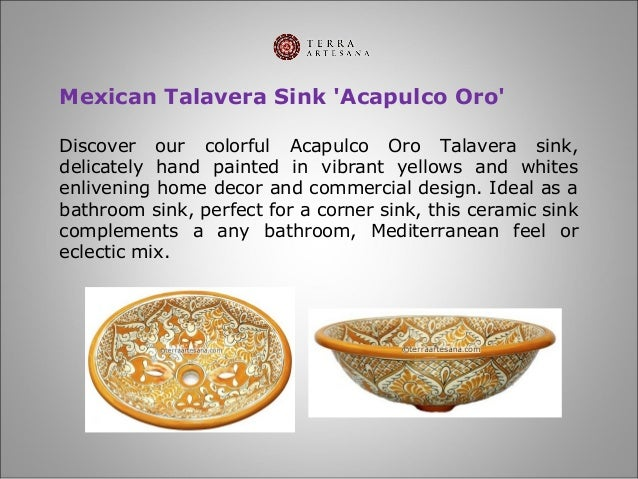 7  Mexican Talavera Sink   39. TerraArtesana   Talavera Bathroom Sinks