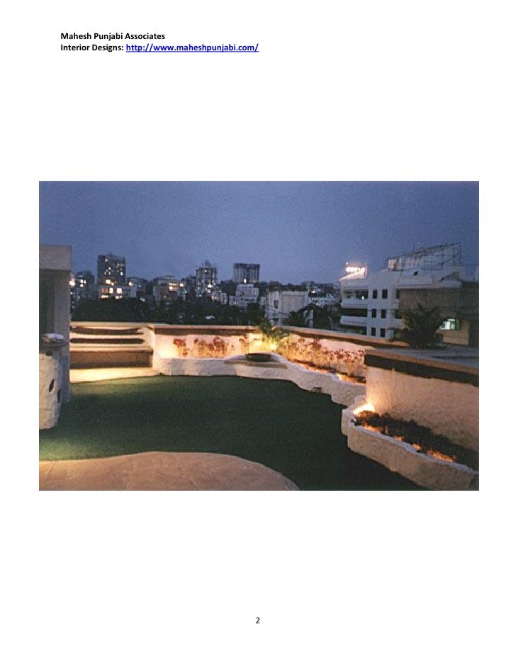 Terrace interior design ideas by mahesh punjabi interior for Terrace interior design