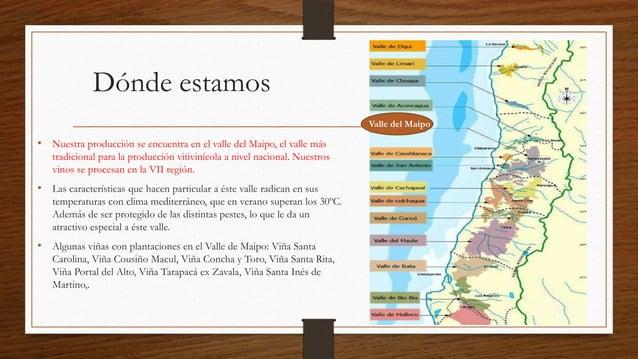 Dónde estamos                                                                            Valle del Maipo• Nuestra producci...