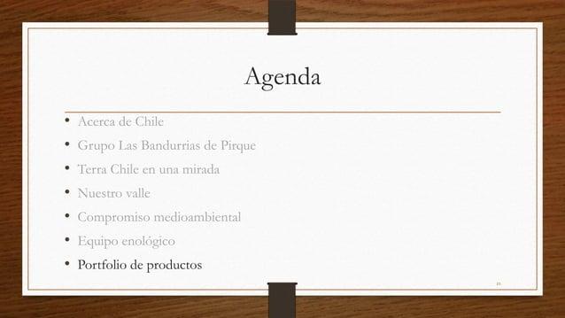 Agenda•   Acerca de Chile•   Grupo Las Bandurrias de Pirque•   Terra Chile en una mirada•   Nuestro valle•   Compromiso me...