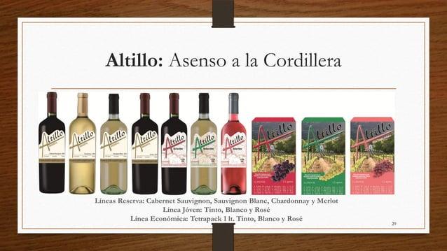 Altillo: Asenso a la CordilleraLíneas Reserva: Cabernet Sauvignon, Sauvignon Blanc, Chardonnay y Merlot                   ...