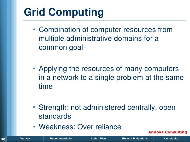 Grid Computing                  • Combination of computer resources from                    multiple administrative domain...