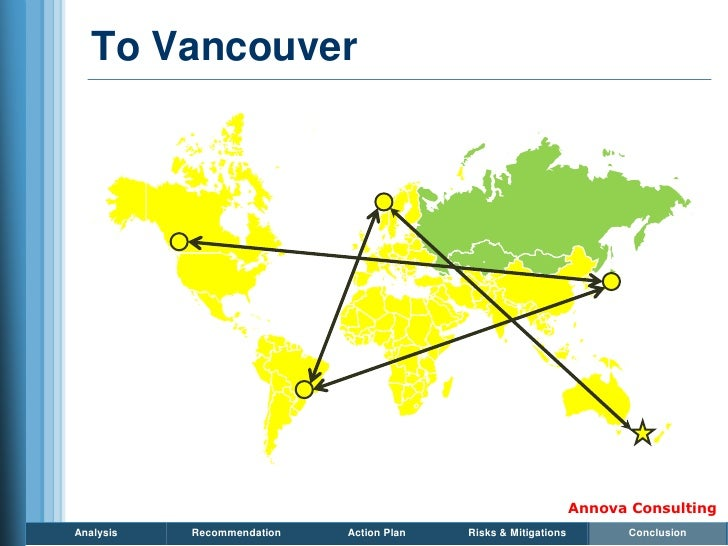 To Vancouver                                                                     Annova Consulting Analysis   Recommendati...