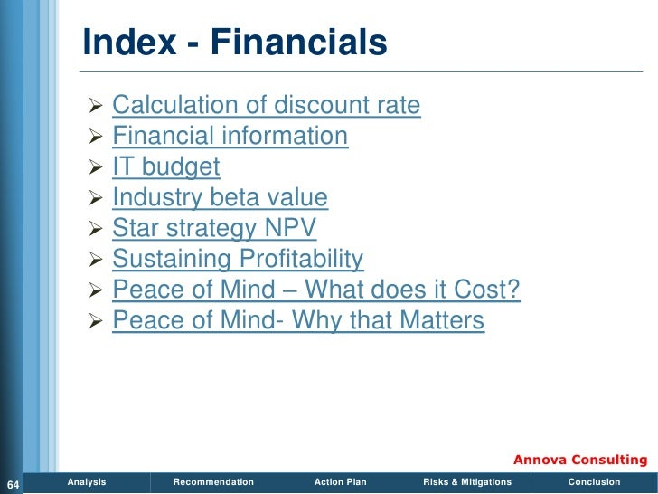 Index - Financials                Calculation of discount rate                Financial information                IT b...