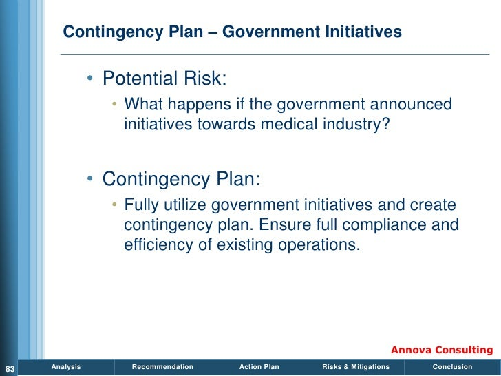 Contingency Plan – Government Initiatives                  • Potential Risk:                    • What happens if the gove...