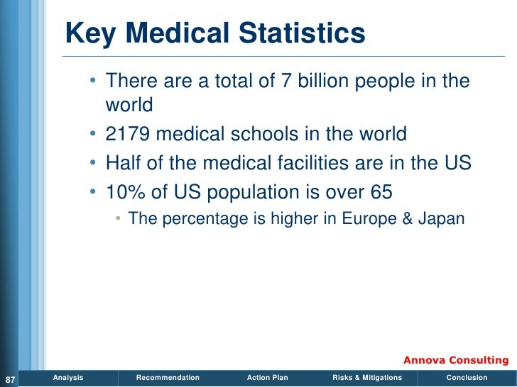 Key Medical Statistics                 • There are a total of 7 billion people in the                   world             ...