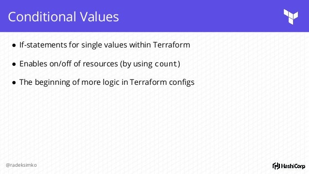 Terraform 0 9 + good practices