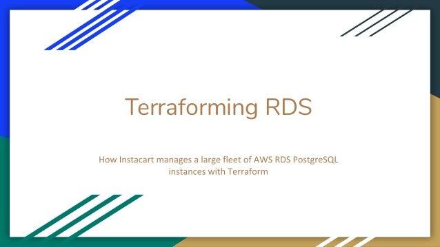 Terraforming RDS
