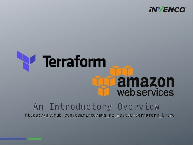 Introductory Overview to Managing AWS with Terraform
