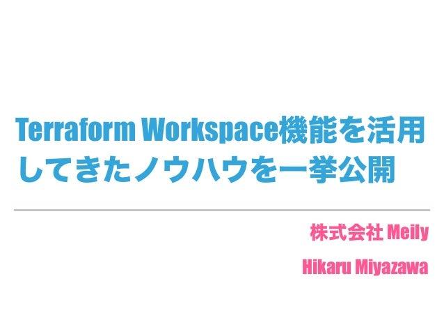 Terraform Workspace Meily Hikaru Miyazawa