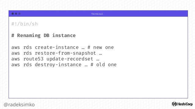 "Terminal @radeksimko ""identifier"": { Type: schema.TypeString, Optional: true, ForceNew: true, ConflictsWith: []string{""ide..."