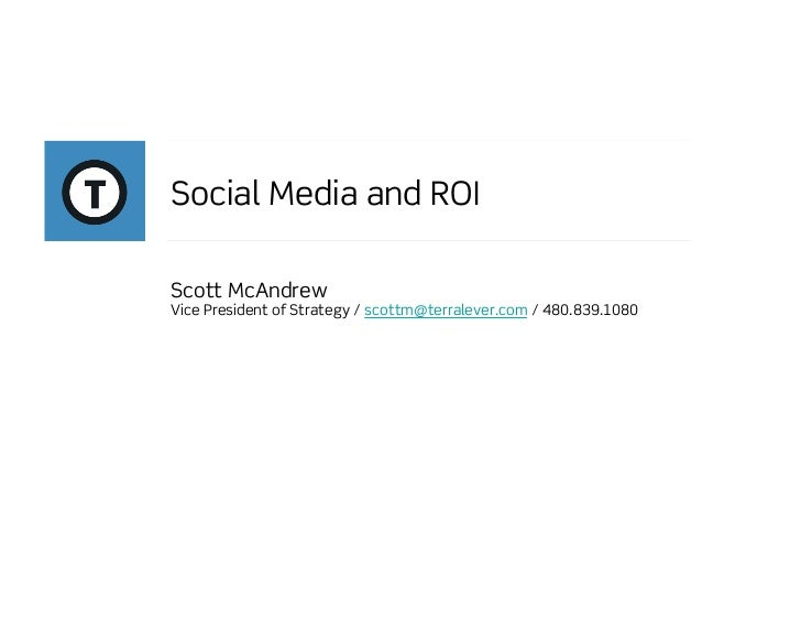 Social Media ROI - Scott McAndrew