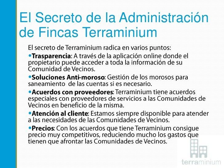 Terraminium administradores de fincas for Administradores de fincas en leon