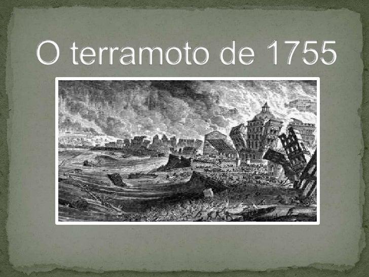 O terramoto de 1755<br />