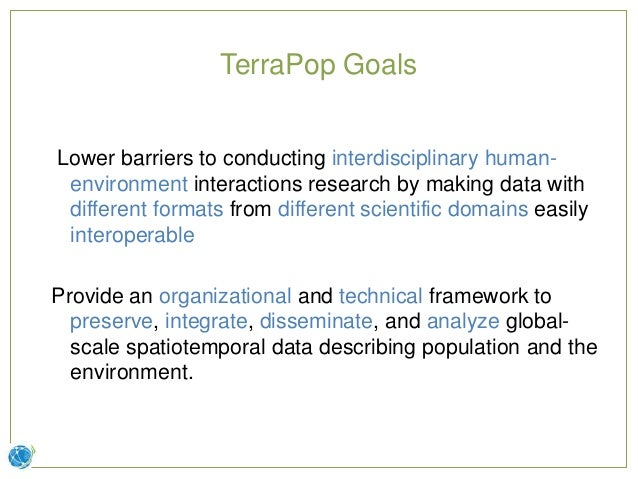 Terra Populus: Integrated Data on Population and Environment Slide 2