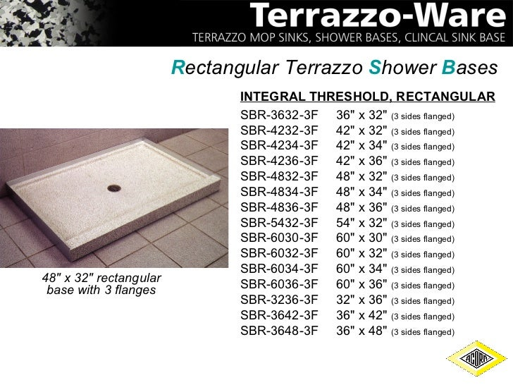 acorn engineering terrazzo-ware - Terrazzo Shower Base