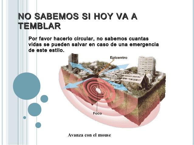 NO SABEMOS SI HOY VA ATEMBLAR Por favor hacerlo circular, no sabemos cuantas vidas se pueden salvar en caso de una emergen...