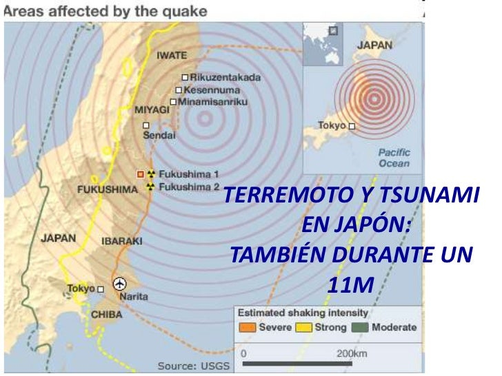 TERREMOTO Y TSUNAMI<br />  EN JAPÓN:<br />TAMBIÉN DURANTE UN 11M<br />