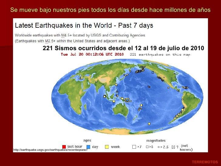 http://earthquake.usgs.gov/earthquakes/recenteqsww// 221 Sismos ocurridos desde el 12 al 19 de julio de 2010 TERREMOTOS Se...