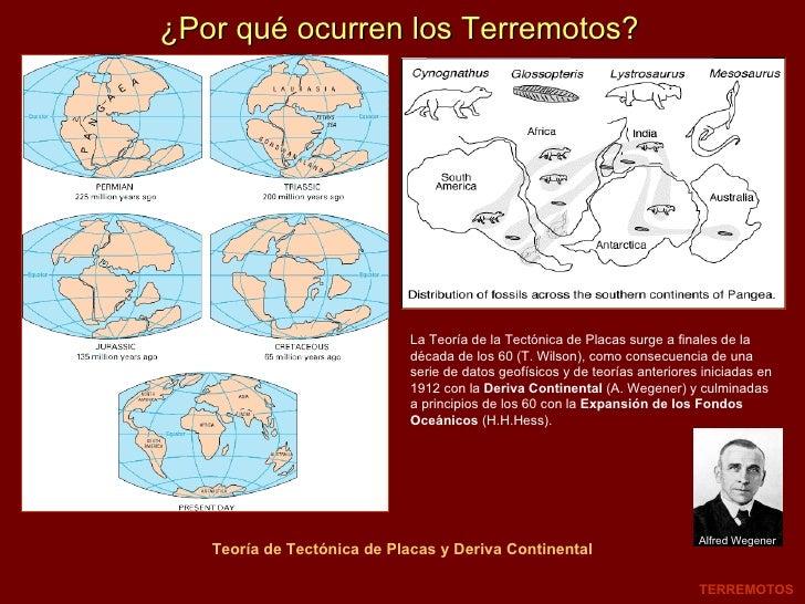 ¿Por qué ocurren los Terremotos? Teoría de Tectónica de Placas y Deriva Continental TERREMOTOS La Teoría de la Tectónica d...
