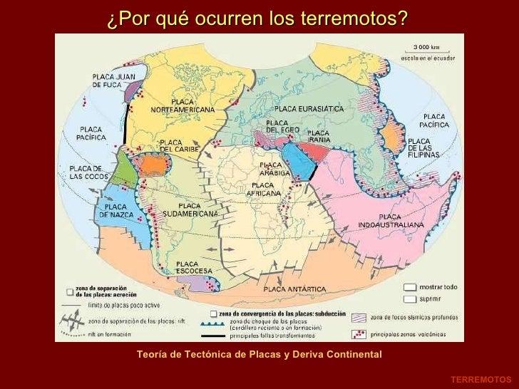 ¿Por qué ocurren los terremotos? TERREMOTOS Teoría de Tectónica de Placas y Deriva Continental