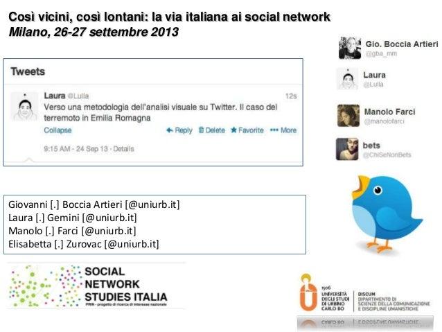 Giovanni [.] Boccia Artieri [@uniurb.it] Laura [.] Gemini [@uniurb.it] Manolo [.] Farci [@uniurb.it] Elisabetta [.] Zurova...