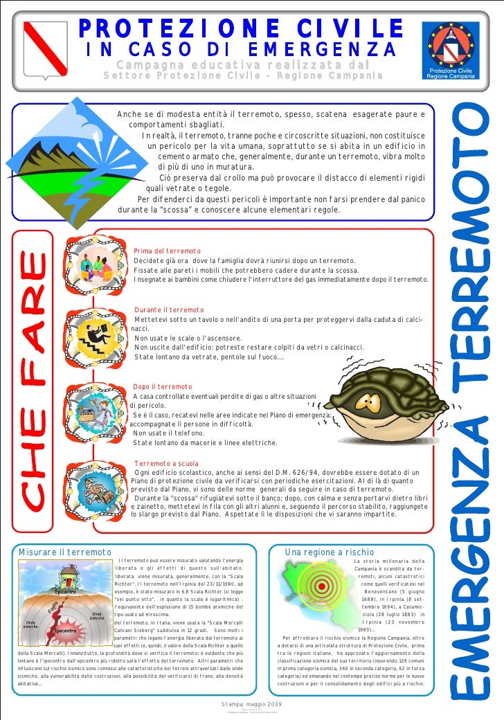 PROTEZIONE CIVILE                                 IN CASO DI EMERGENZA                                               Campa...