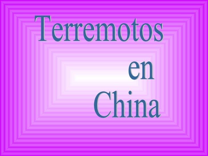 Terremotos en China